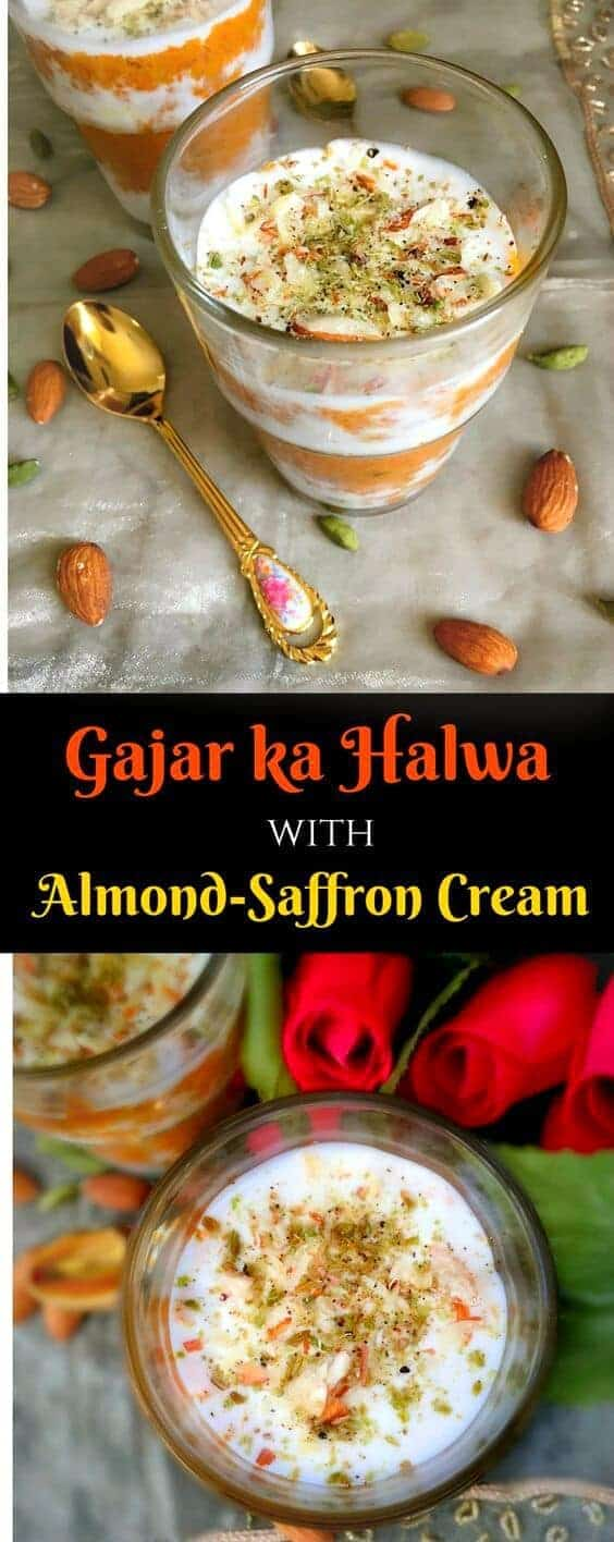 Gajar Halwa Pudding (Layered Indian Carrot Pudding)