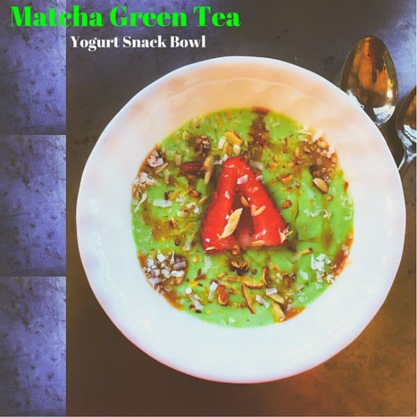 Matcha Green Tea Yogurt Snack Bowl