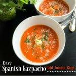 Easy Spanish Gazpacho – Cold Tomato Soup