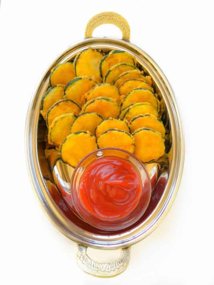 Thin-Crispy Zucchini Fritters Vegan-Glutenfree