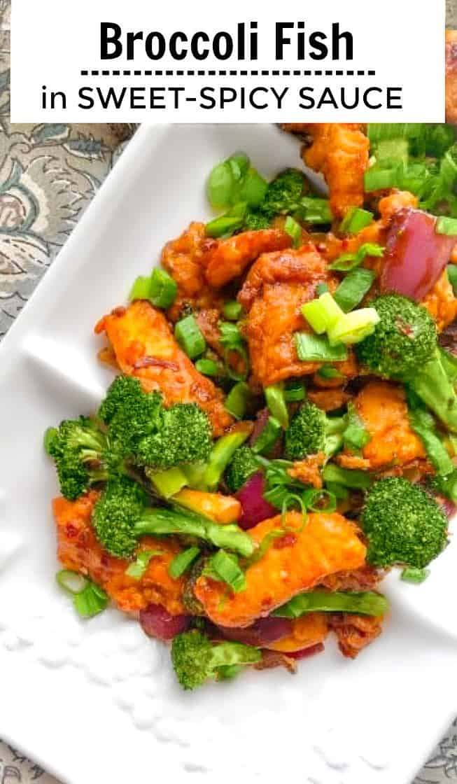 Broccoli Fish in Sweet Spicy Sauce #broccolifish #fishsauce
