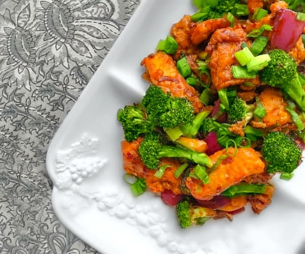 Sweet Spicy Broccoli Fish