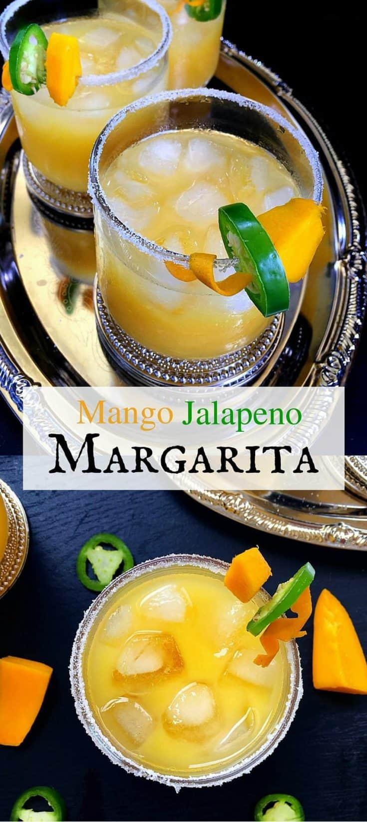 Mango Jalapeno Margarita (3 Mins Drink) #mango #margarita #drinks #cincodemayo #mothersday #tequila