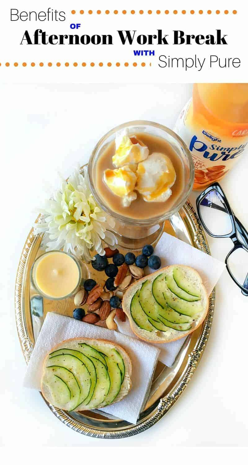Benefit of Afternoon Work Snack with Simply Pure: #ad #IDSimplyPure #CollectiveBias #coffee #internationaldelight