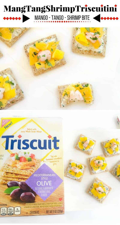 MangTangShrimpTriscuitini - Mango-Tango-Shrimp-Bites: #ad #MadeForMore #Walmart #CollectiveBias #shrimp #mango #triscuit