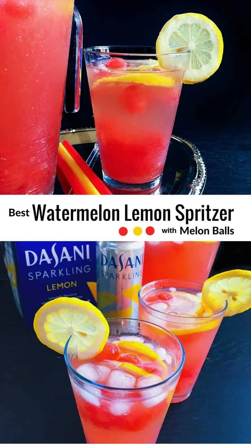 Best Watermelon Lemon Spritzer with Melon Balls : #ad