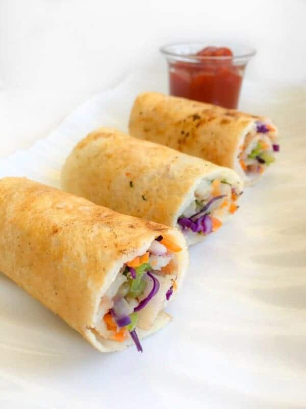 Kids Breakfast Veggie Cheese Dosa Roll-Ups