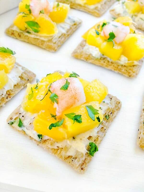 easy Mango shrimp appetizer