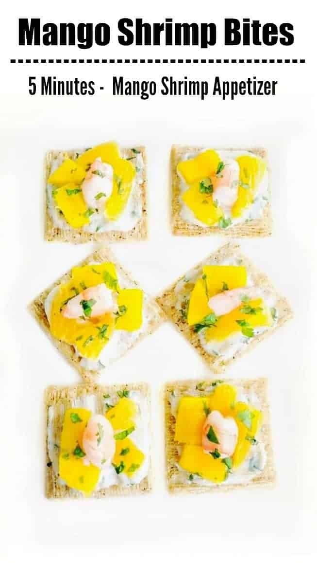 Mango Shrimp Bites | Quick Mango Shrimp Appetizer: #mangoshrimp #shrimp #snackbites #easterrecipes #mango
