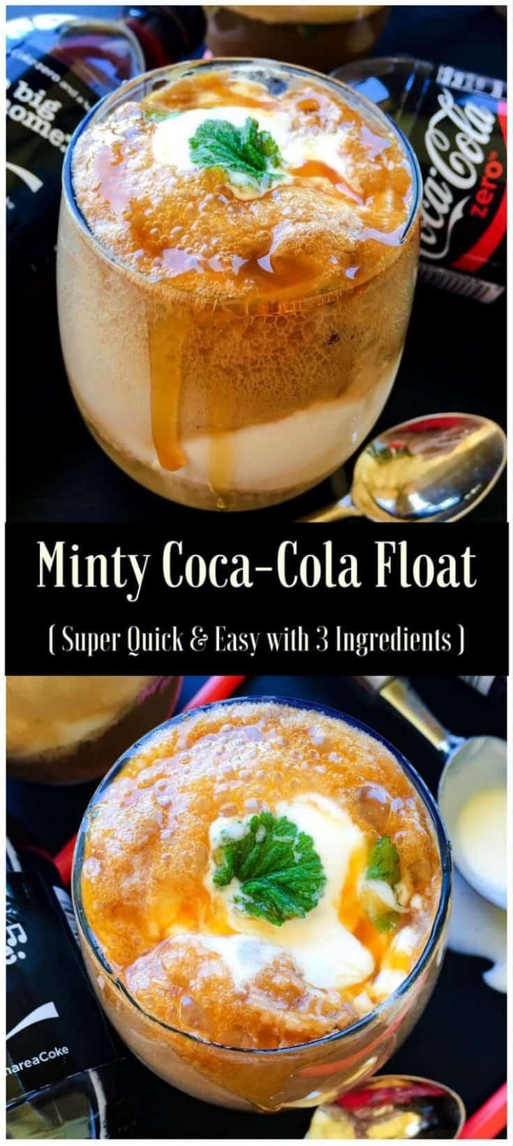 Minty Coca-Cola Float : #ad #ExpressUrSelfie #CollectiveBias #icecream #float #dessert