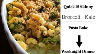 Skinny Broccoli Kale Pasta Bake #kalepasta
