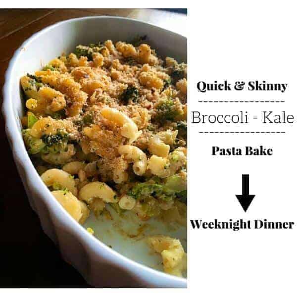 Skinny Broccoli Kale Pasta Bake