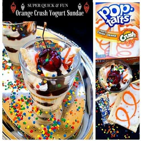 Super Quick and Fun - Orange Crush Yogurt Sundae