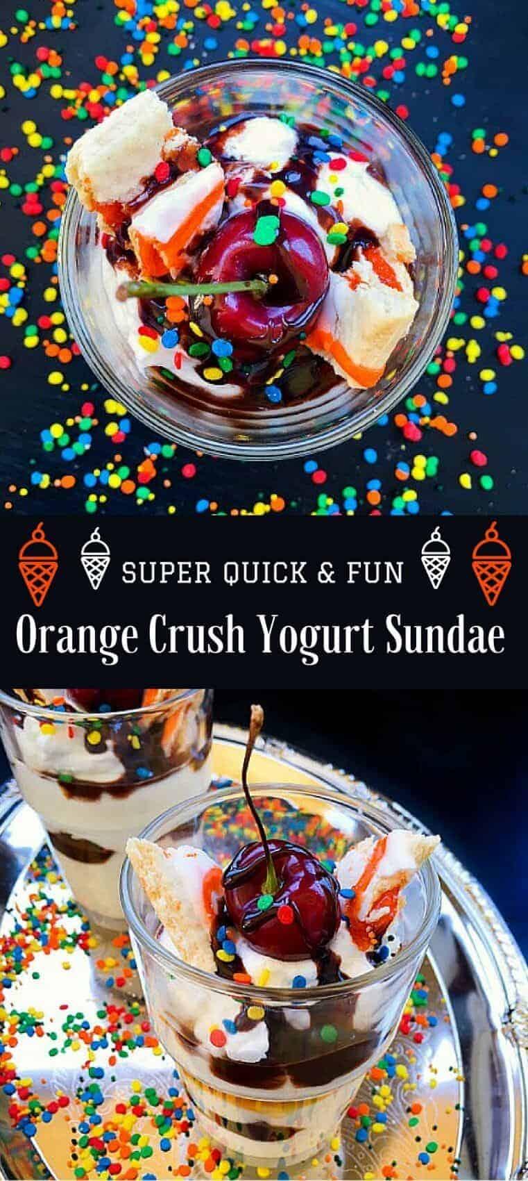 Super Quick & Fun Orange Crush Yogurt Sundae : #ad #ReimagineCereal #CollectiveBias #yogurt #sundae