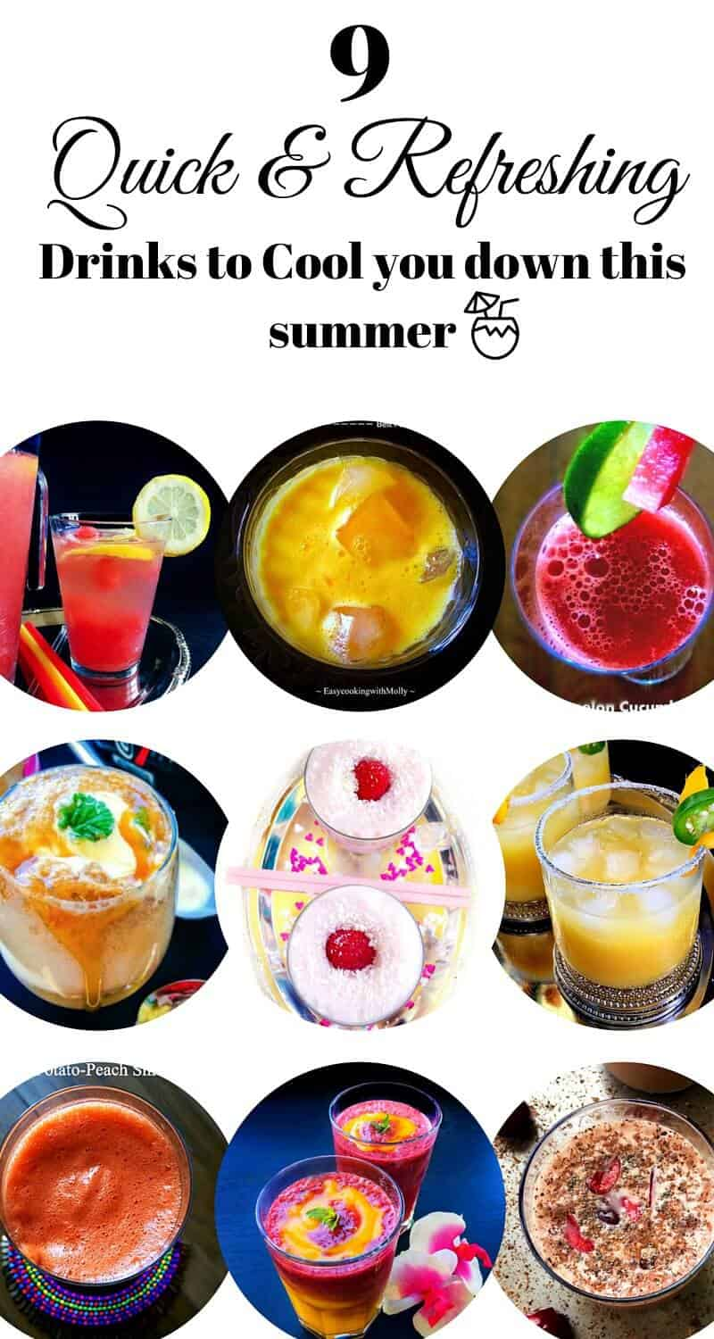 9 Quick and Refreshing Drinks to Cool You Down This Summer: #drinks #summer #smoothies #mango