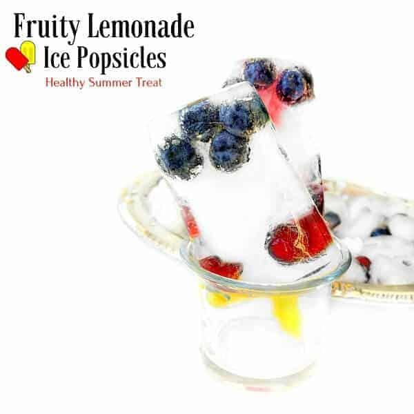 Fruity Lemonade Ice Popsicles - Healthy Summer Treat