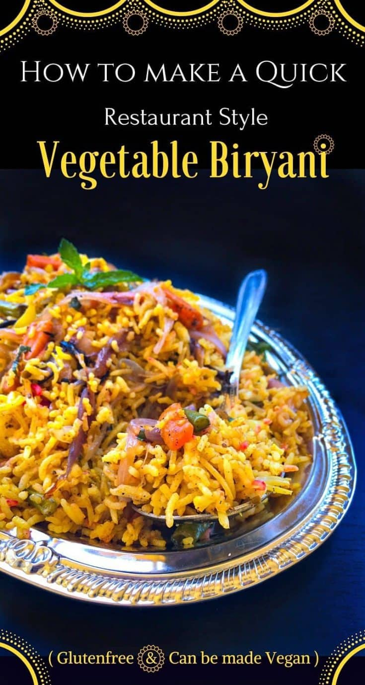 how to make a quick restaurant style vegetable biryani: #restaurant #biryani #vegetablebiryani
