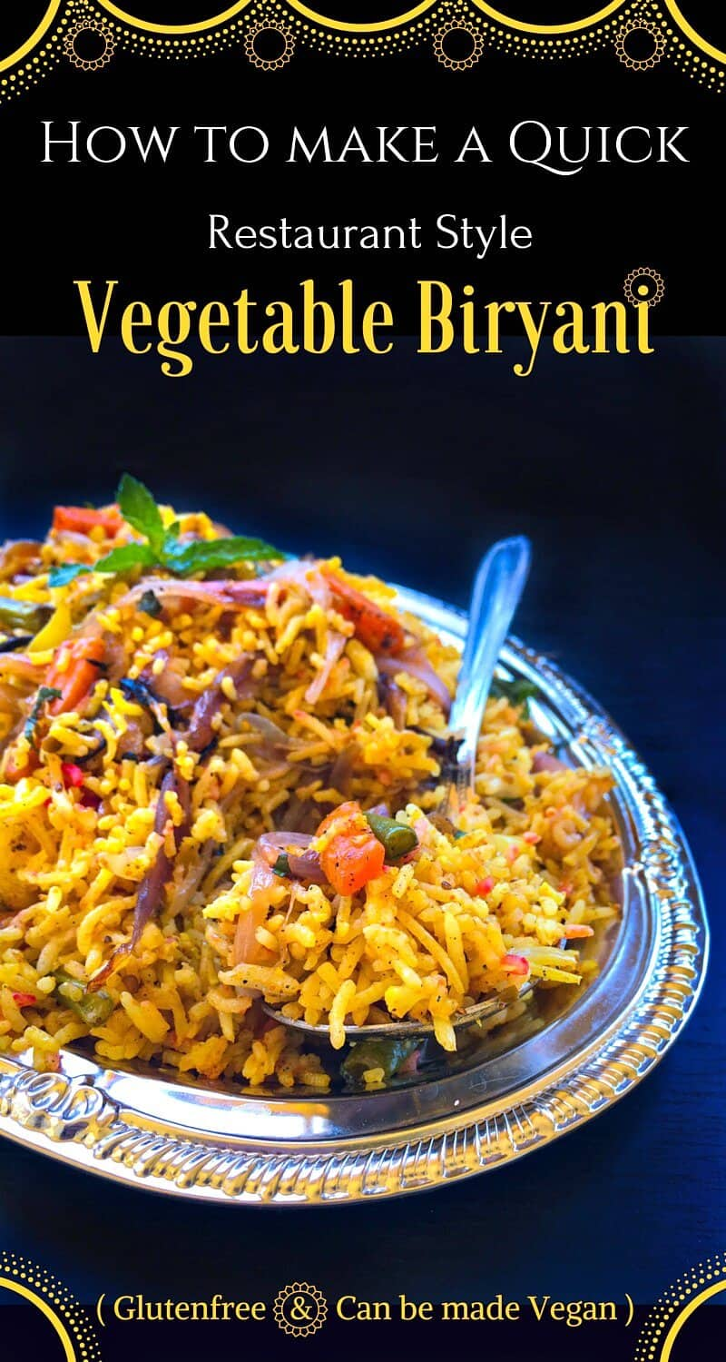 How To Make A Quick Restaurant Style Vegetable Biryani : #biryani #vegetable #recipe #spicy #indianfood #rice