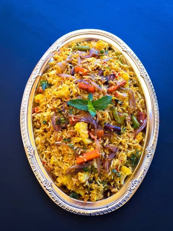 Make Quick Restaurant Style Vegetable Biryani