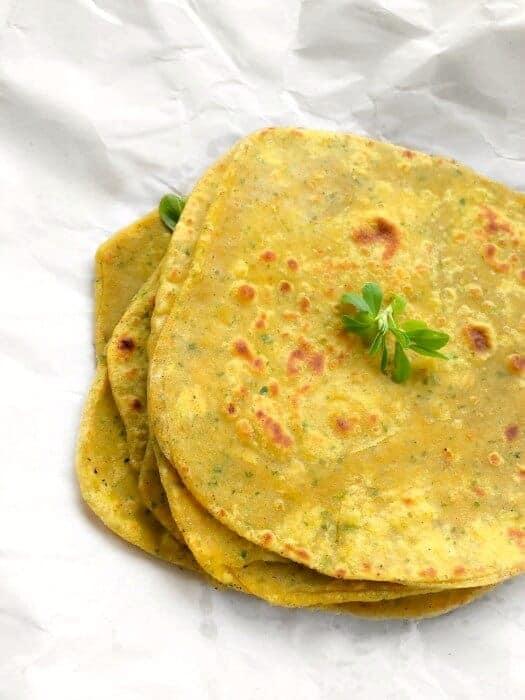 Methi parantha recipe