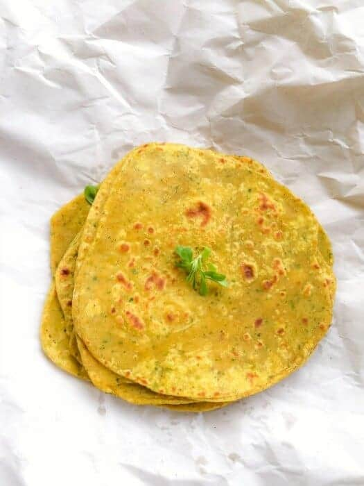 Indian Methi Flatbread