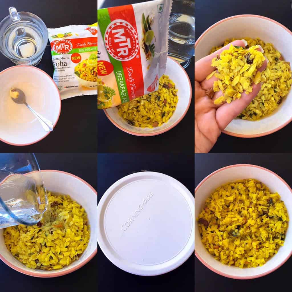 Picture of Savory Breakfast Poha Trifle Process