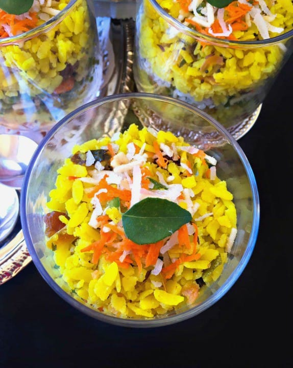 Savory Breakfast Poha Trifle