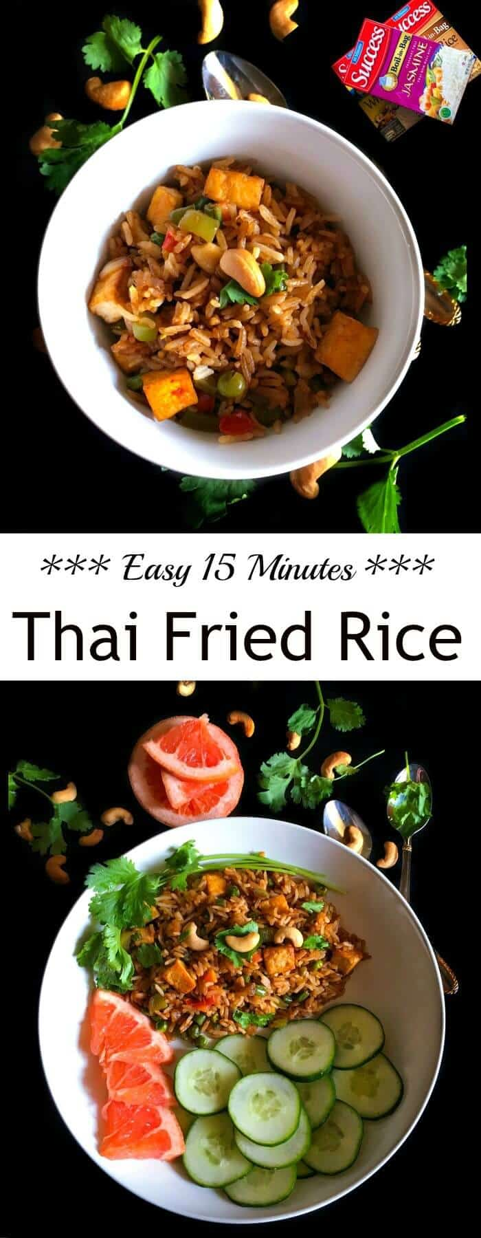 Easy-15-Minutes-Thai-Fried-Rice : #ad @successrice #Back2SchoolSuccess #thai #fried #rice