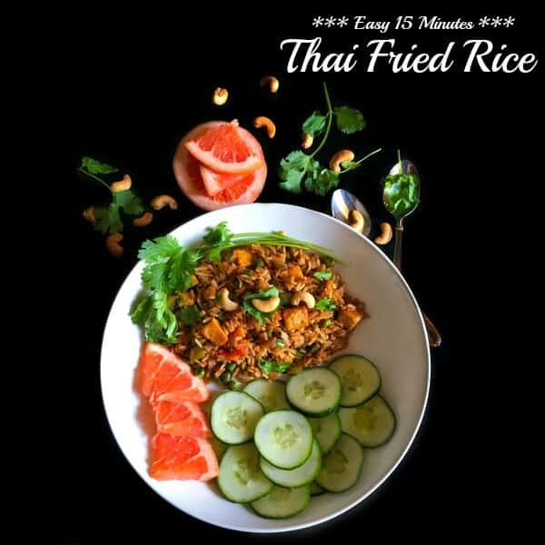 Easy 15 Minutes Thai Fried Rice (Vegetarian Recipe) #Thai