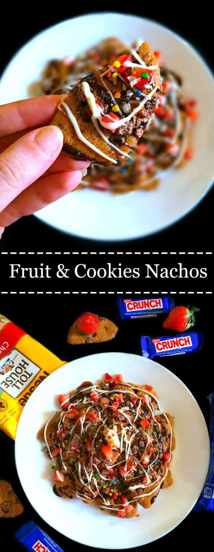 Fruit and Cookies Nachos: #ad #NestleSchoolDays #cbias #dessert #nacho #backtoschool