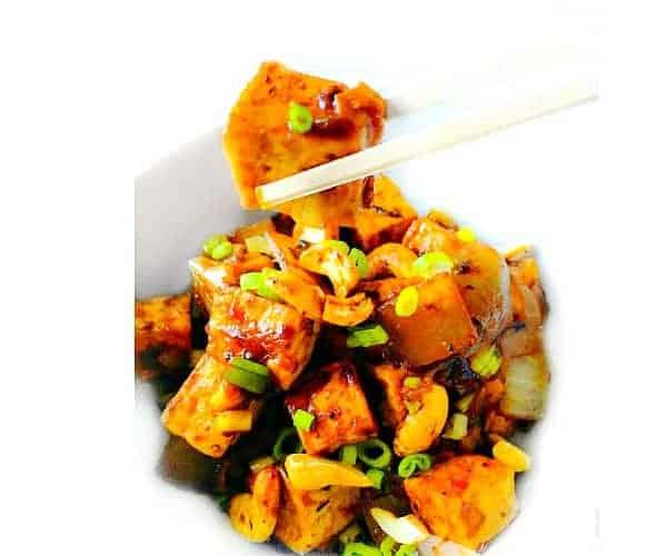 Ginger Cashew Tofu - 15 Minutes Weeknight Recipe