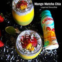 Mango Matcha Chia Layered Smoothie