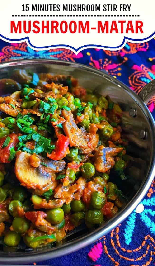 Mushroom Matar Masala - Indian Mushroom Peas Stir Fry #mushroom #matarmushroom