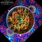 15 Minutes Mushroom Matar Masala – Stir Fry
