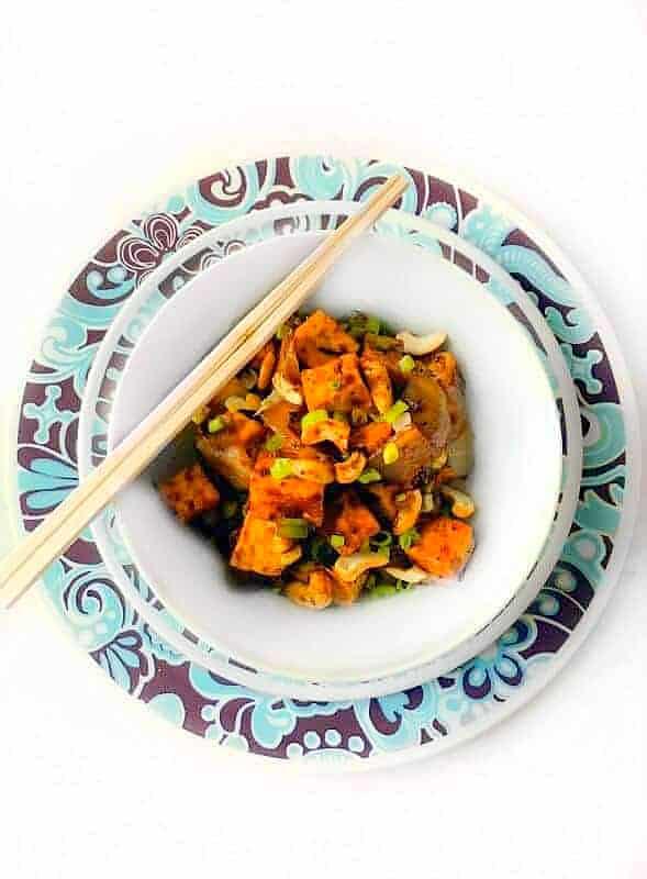 Quick Cashew Tofu