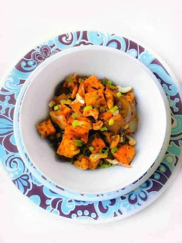 spicy ginger tofu cashew
