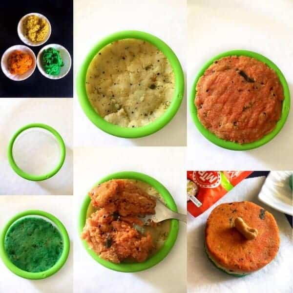 how to make 3 color masala upma
