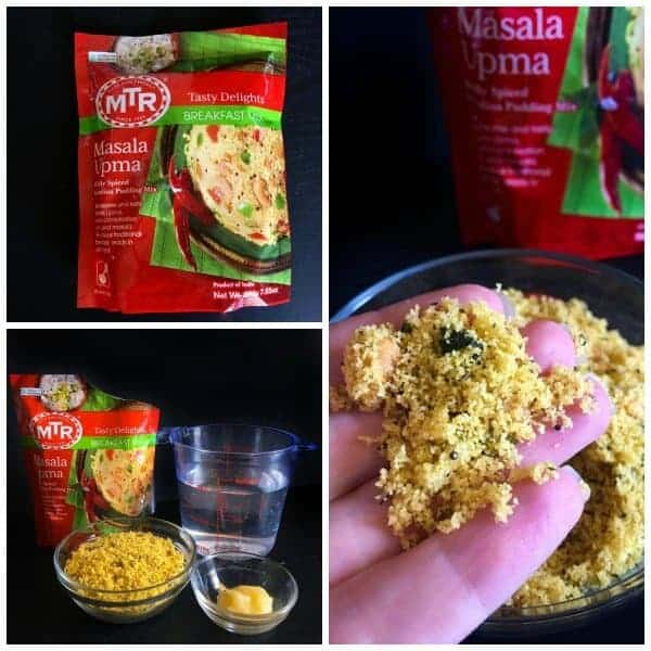 Three Colored Breakfast Masala Upma Savory Semolina Pudding