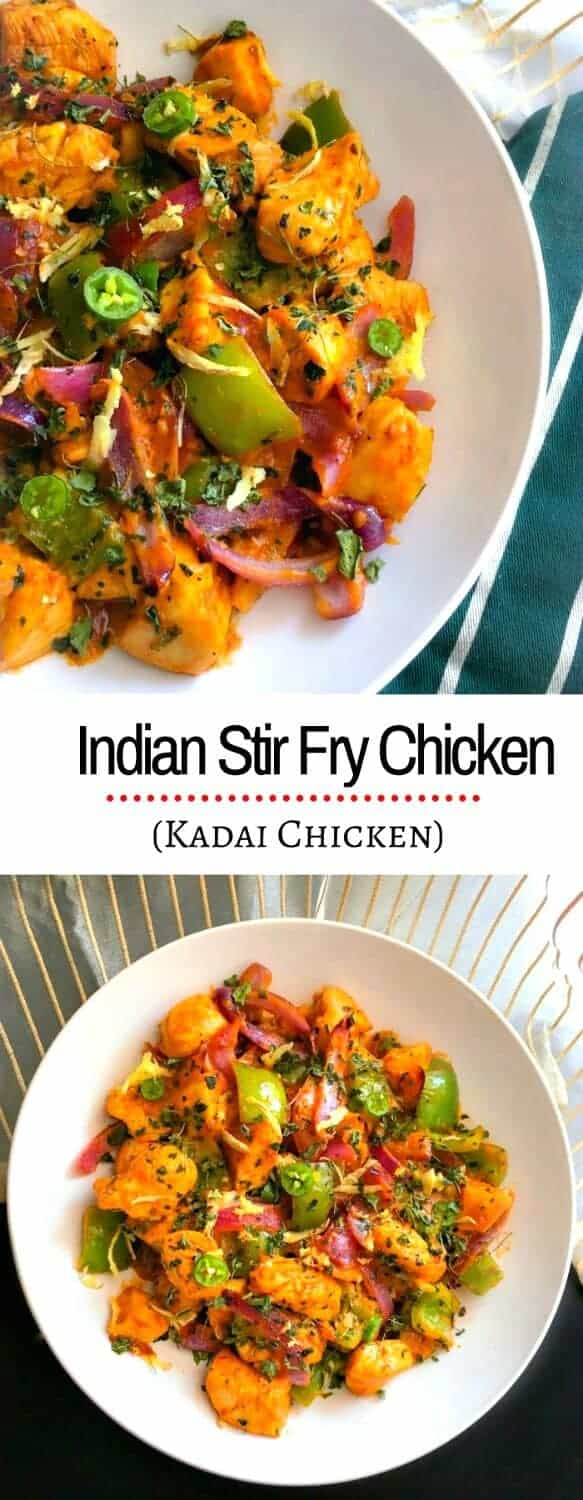 Indian Stir Fry Chicken (Kadai Chicken) #ad NewComfortFood #chicken #recipe
