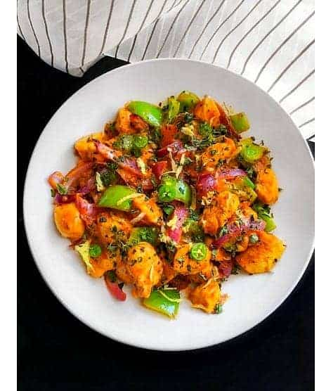 Kadai Chicken - Indian Stir Fry Chicken (Keto Chicken)
