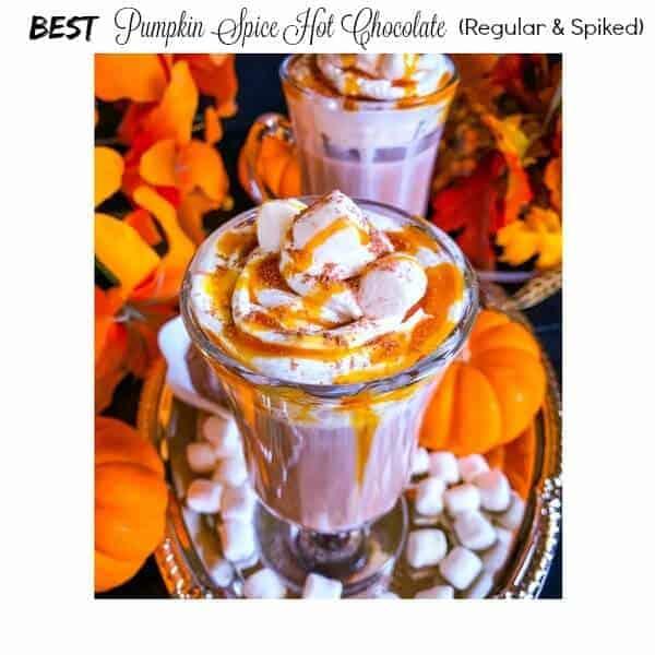 Best Pumpkin Spice Hot Chocolate (Spiked and Regular)