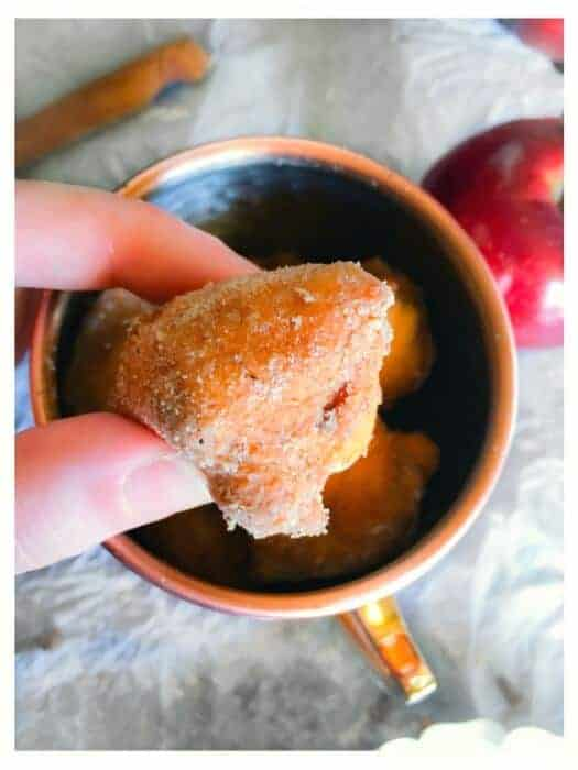 chai spice apple fritters