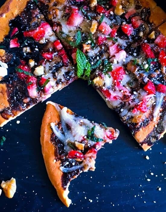 Strawberry Pizza with Balsamic Reduction