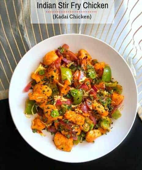 Indian Stir Fry Chicken - Kadai Chicken
