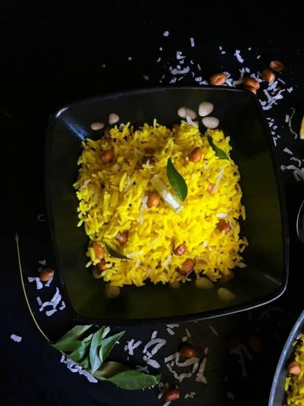 Indian Lemon Turmeric Rice