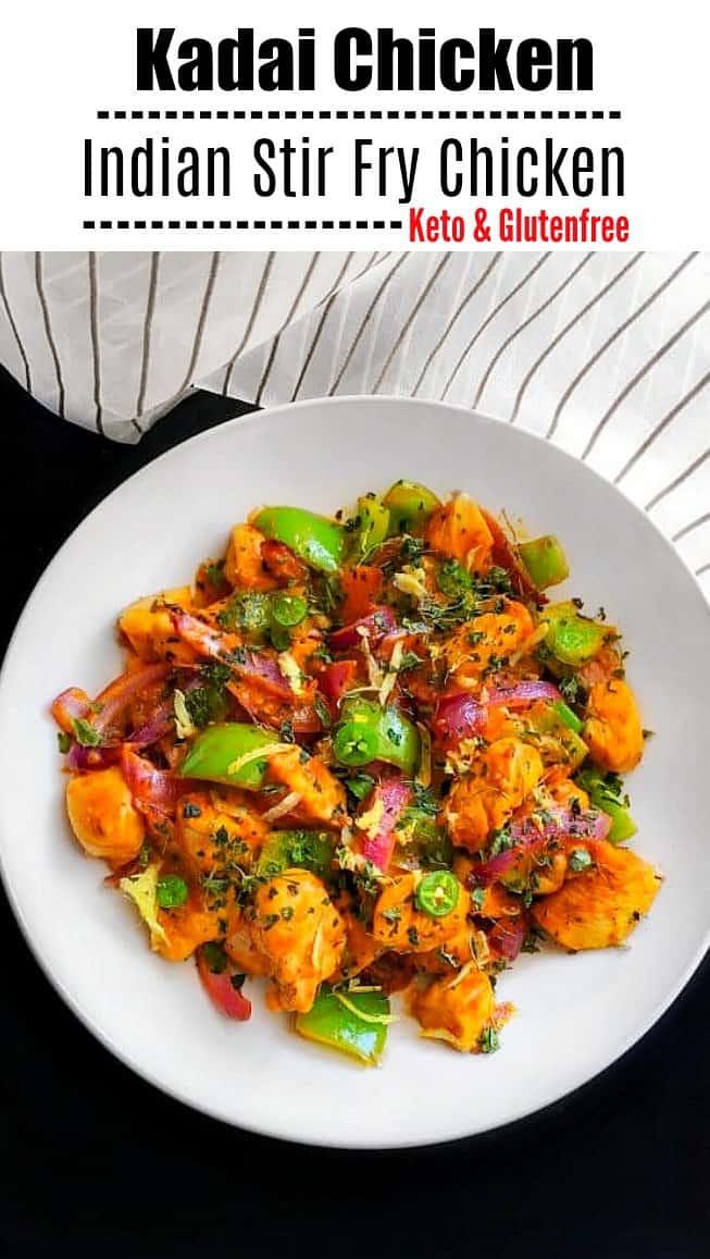 Kadai Chicken (Indian Stir Fry Chicken): #kadaichicken #kadai #indianfood #curry #indianchicken