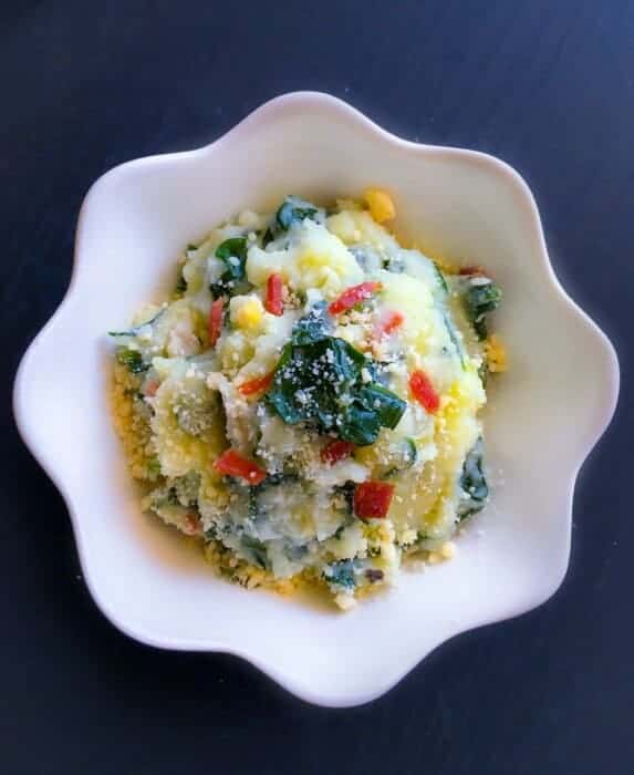 Loaded Mashed Potato with Kale & Bacon