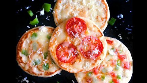 Pizza Uttapam (Savory Indian Pancakes Pizza) #backtoschool