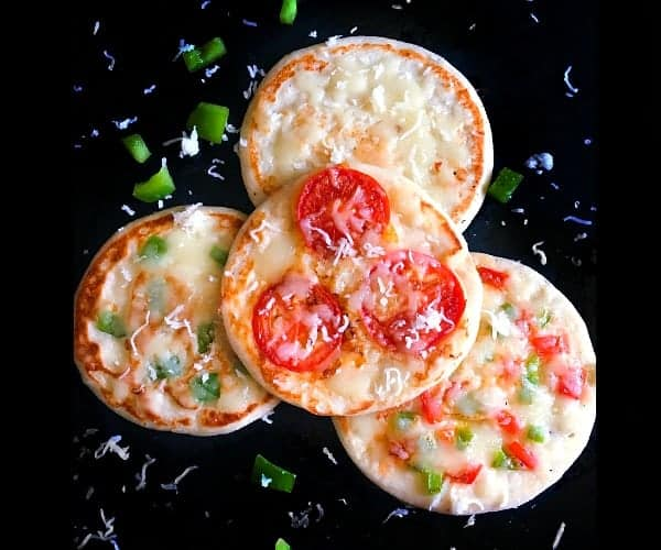 Pizza Uttapam (Savory Indian Pancakes Pizza)