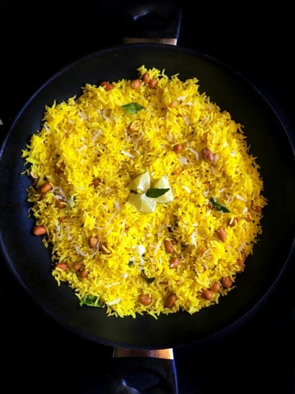 Healthy and Quick Vegan Indian Lemon Rice